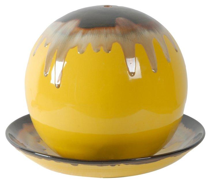 Paint Drip Fountain, Yellow