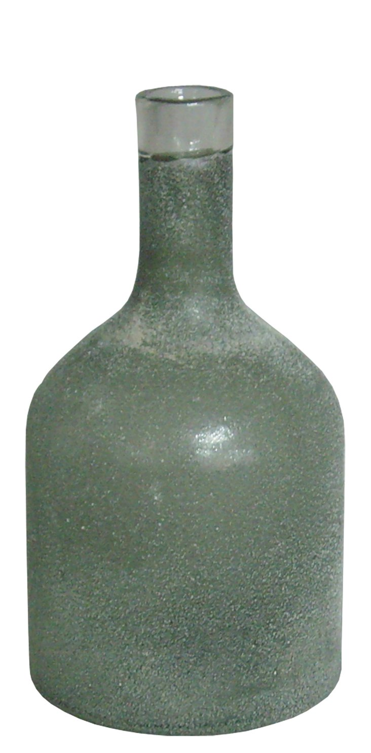 """9"""" Dusted Glass Vase, Gray"""