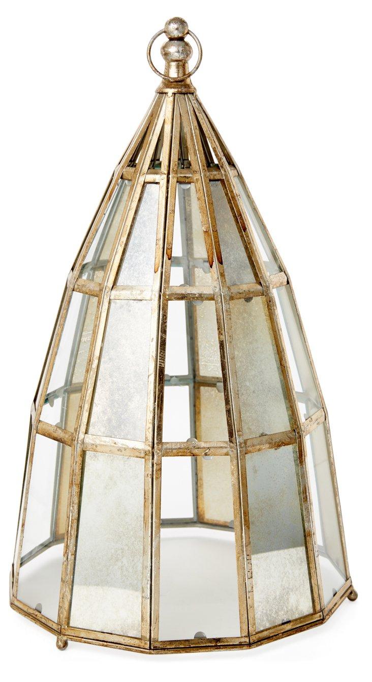 "20"" Geodesic Lantern, Silver"