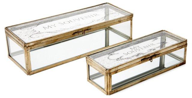 Asst. of 2 Souvenir Boxes, Gold
