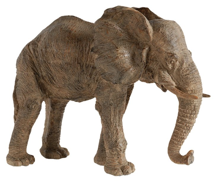 "10"" Elephant Figurine, Brown"