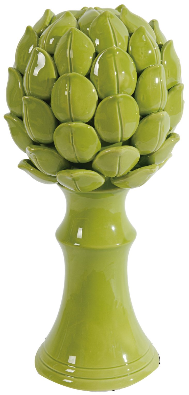 "16"" Artichoke Finial, Green"