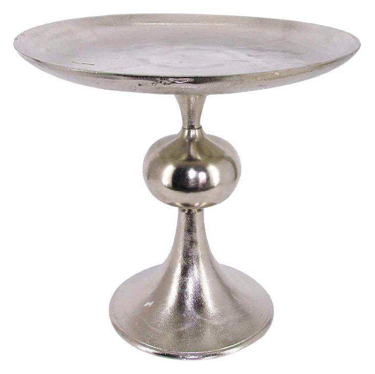 "17"" Decorative Nickel Stand"