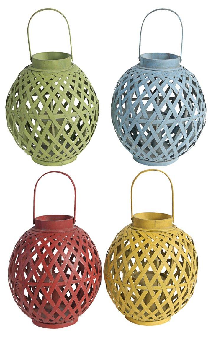 Asst. of 4 Bamboo Candleholders
