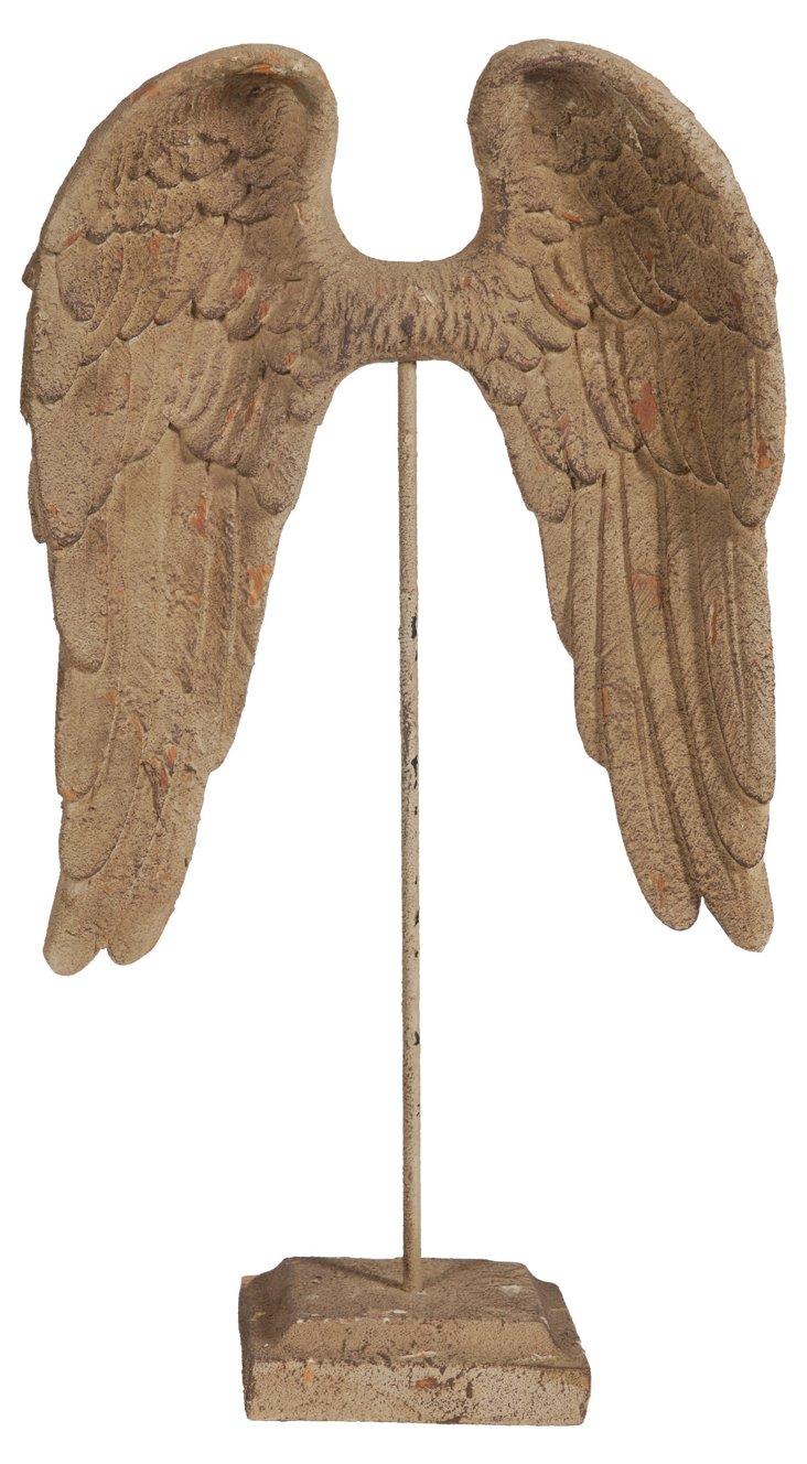 "24"" Wing Sculpture, Tan"