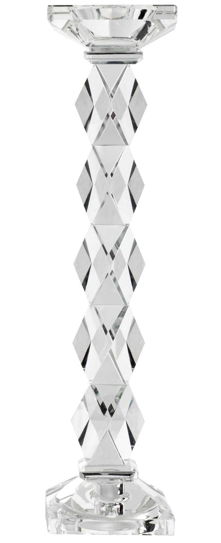 "15"" Faceted Crystal Candleholder"