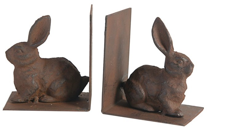 Garden Rabbit Bookends, Asst. of 2