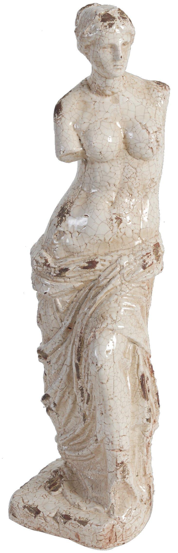 """25"""" Classical Statue, Cream"""