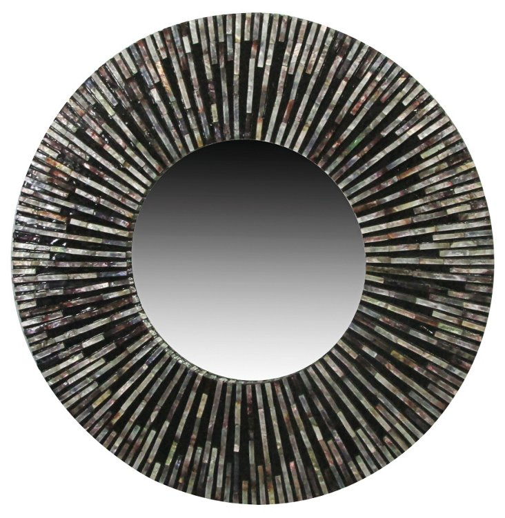 Farron Wall Mirror, Mother-of-Pearl