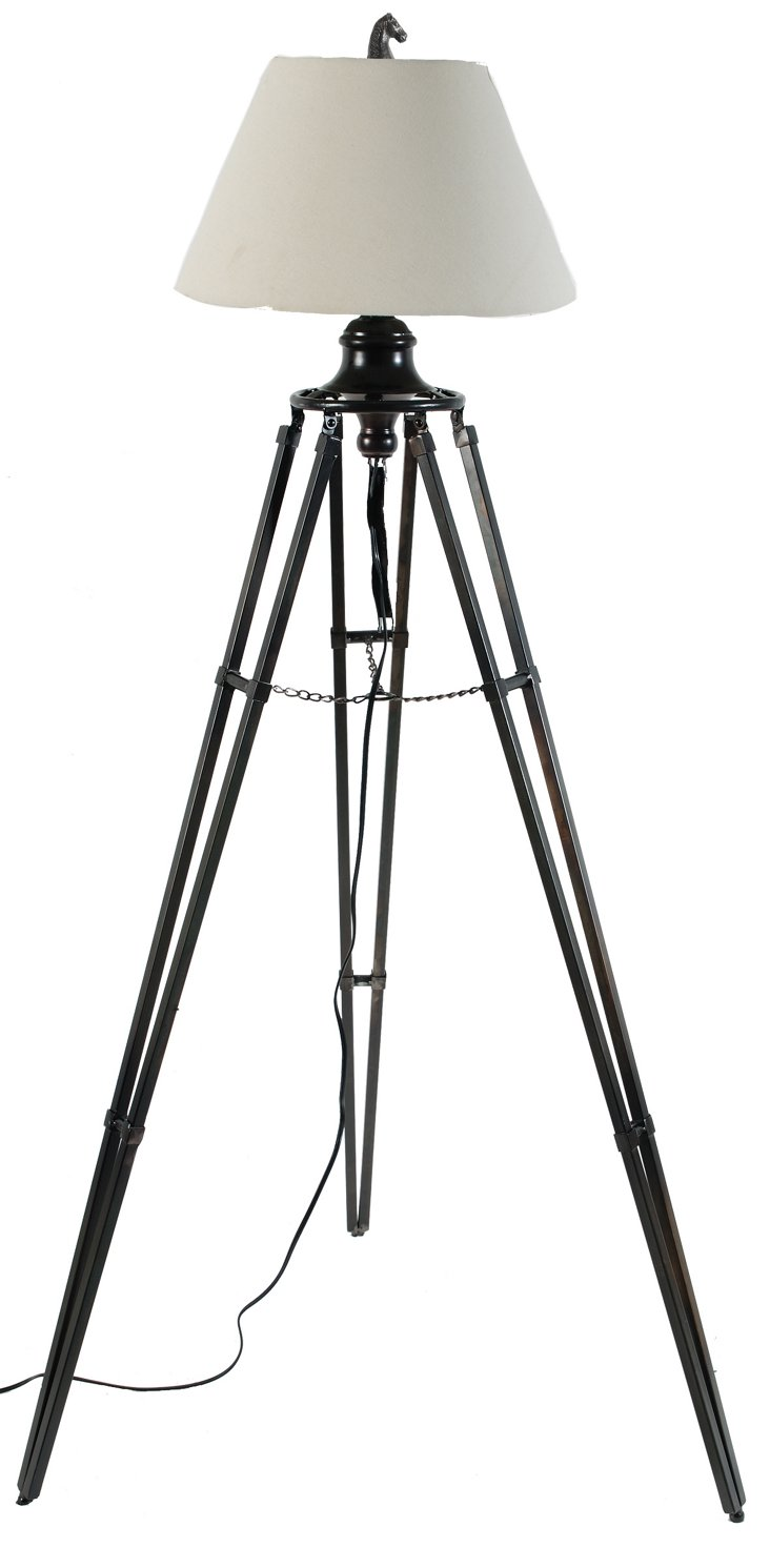 Mondavi Tripod Floor Lamp, Black