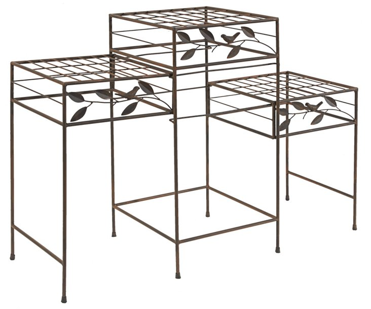 "33"" Plant Stand, Brown"