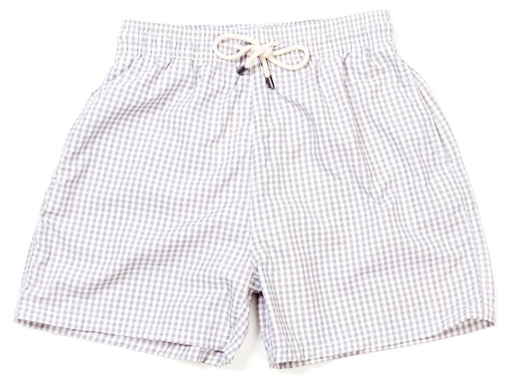 Classic Antibes Gingham Trunks, Natural