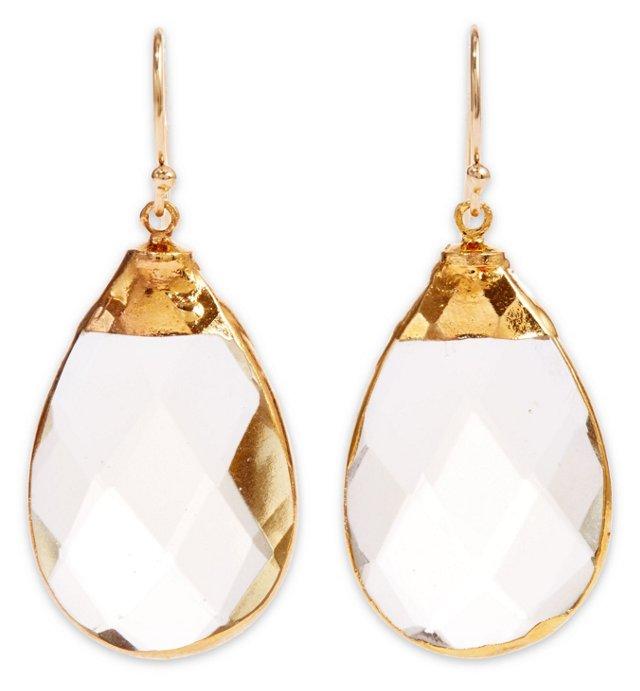 Yellow Quartz Saretha Earrings