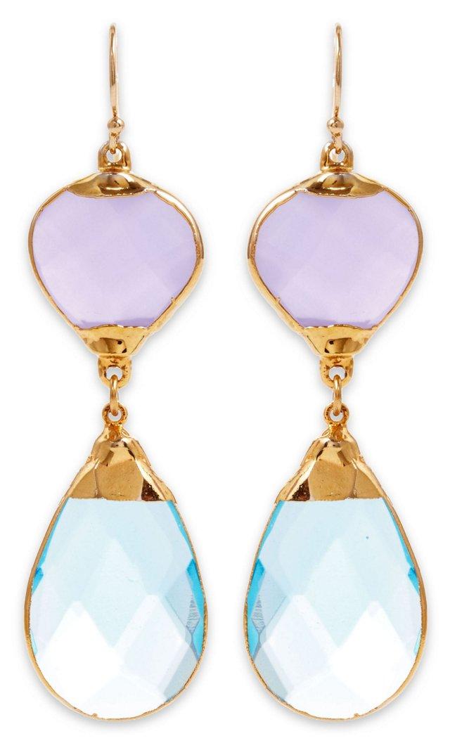 Lavender & Blue Quartz Aurélia Earrings