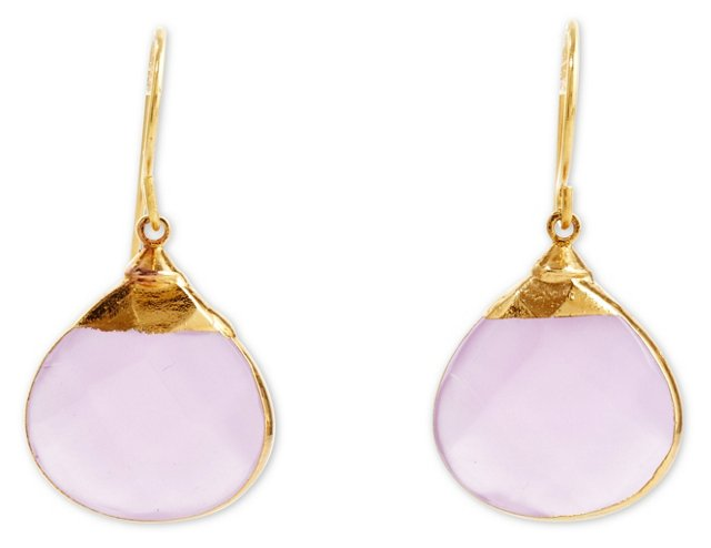 Lavender Quartz  Sarotte Earrings