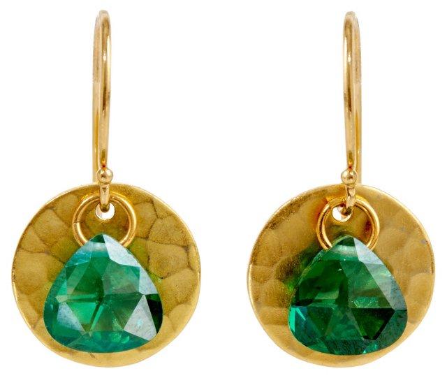 Masako Earrings, Green