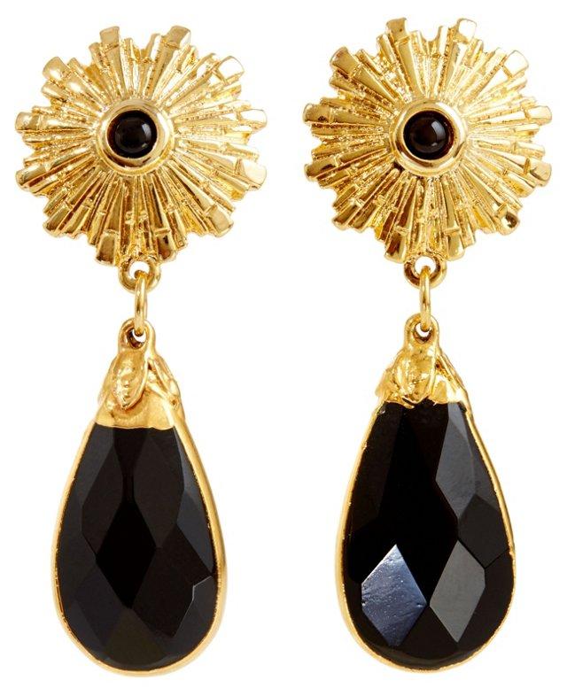 Onyx Starburst Earrings