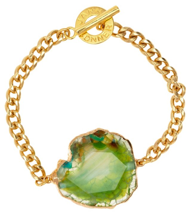 Green Fire Agate Mireille Bracelet