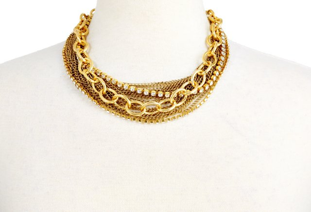 Antique Gold Dax Necklace