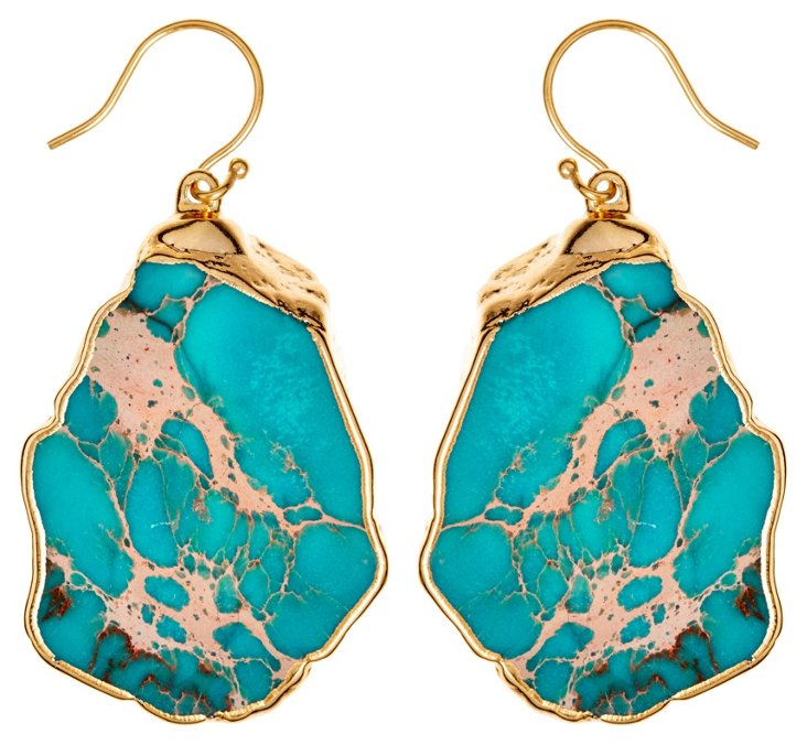 Turquoise Jasper Jacqui Earrings