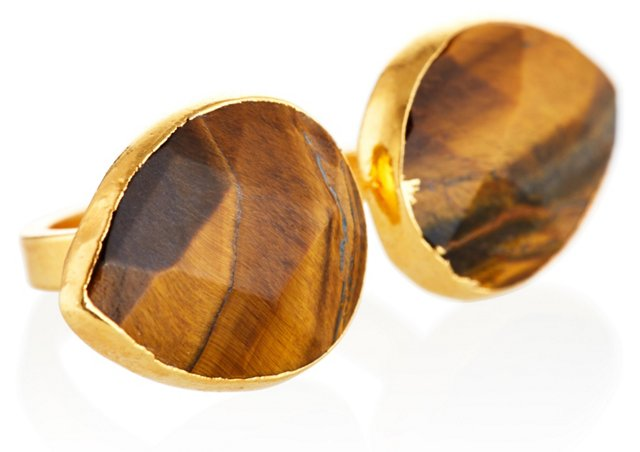 Tiger's Eye Uli Ring