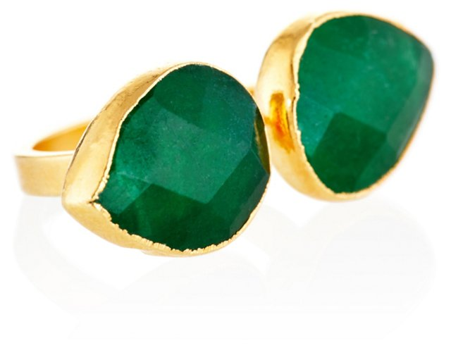 Emerald Jade Uli Ring