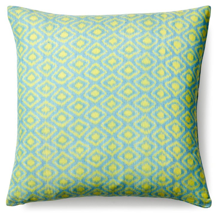 Laguna 19x19 Cotton Pillow, Green