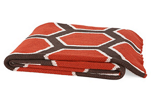 Honecomb Eco Throw, Paprika