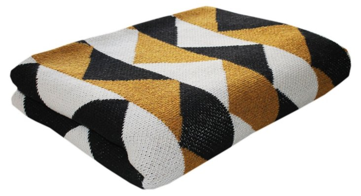 Triangle Cotton-Blend Throw, Multi