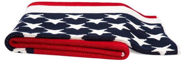 American Flag Throw, Multi