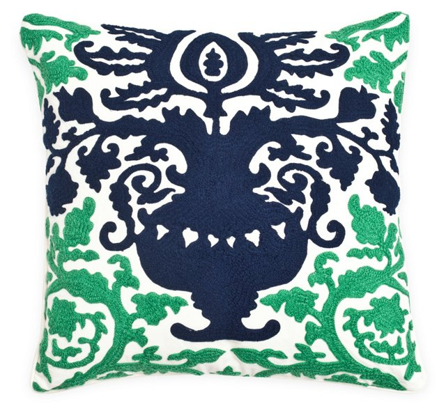 Damask 18x18 Pillow, Multi
