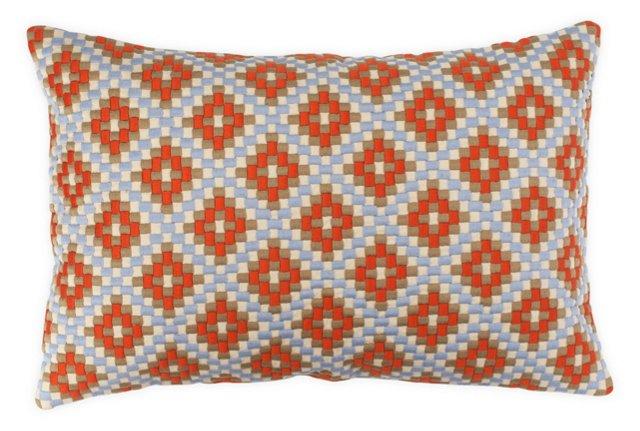 Textural 14x22 Pillow, Orange
