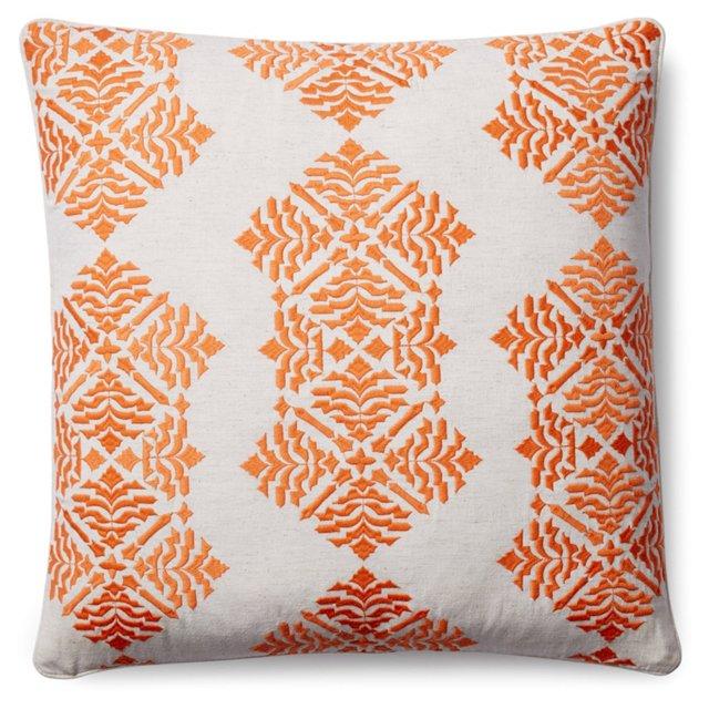 Kirstin 18x18 Pillow, Orange