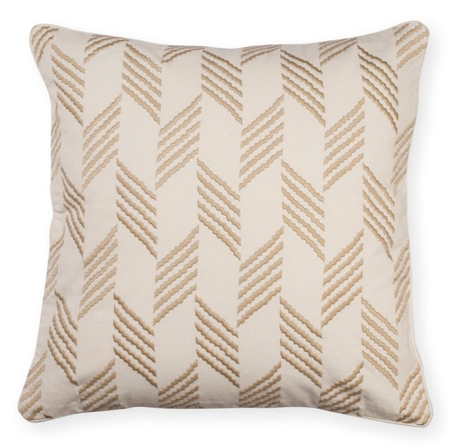 Herringbone 18x18 Pillow, Taupe