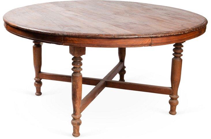 Hand-Carved Teak Table