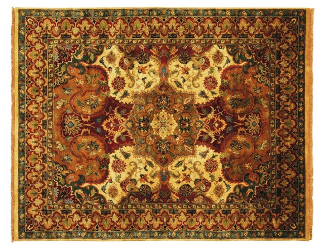 European Polonaise Rug, Red/Multi