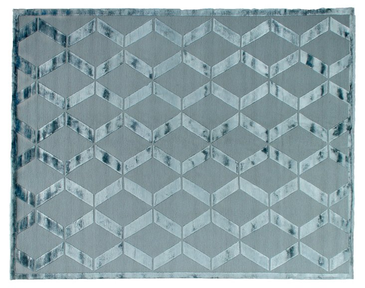 8' x 10' Pictor Rug, Silver Blue