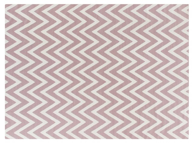 Zigzag Dhurrie, Dusty Rose