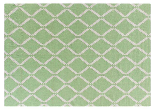 Diamond Dhurrie, Light Green