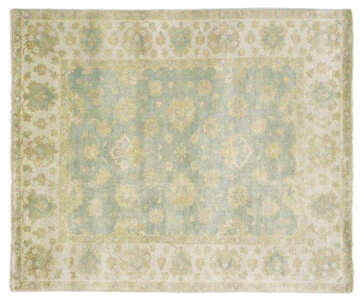 Turkish Oushak Rug, Light Blue