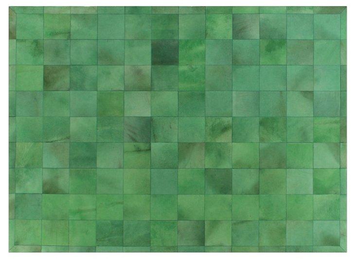 5'x8' Stitched Blocks Hide, Green