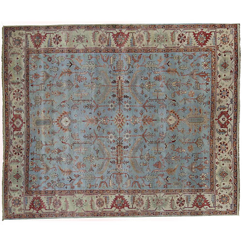 Cerus Rug, Light Blue/Ivory