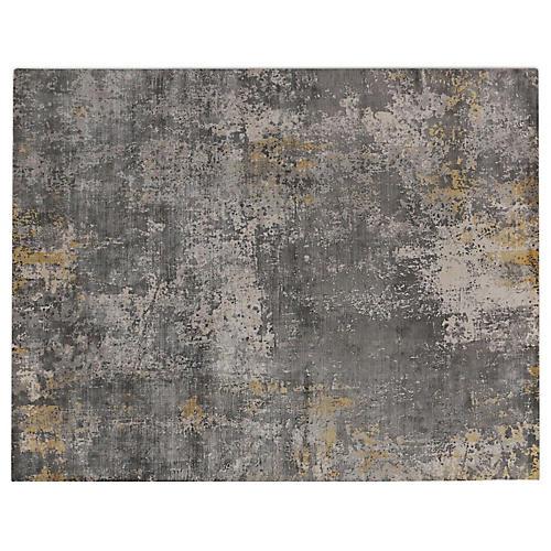 Alastor Rug, Gray/Silver