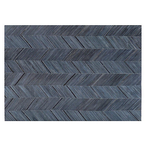 Enfield Hide Rug, Blue