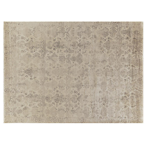 Libby Hand-Knotted Rug, Ivory
