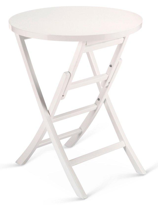 "Levison 24"" Folding Side Table, White"