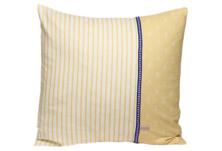 Decorative Pillow, Stripes/Anchors NO.2