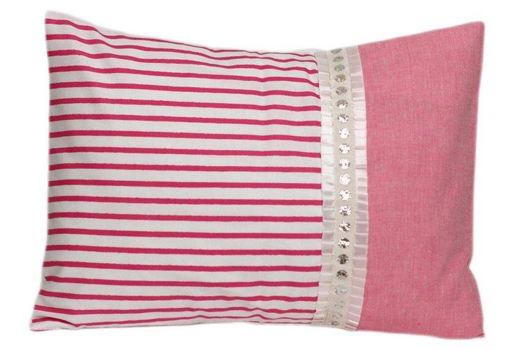 Decorative Pillow, Pink Stripes