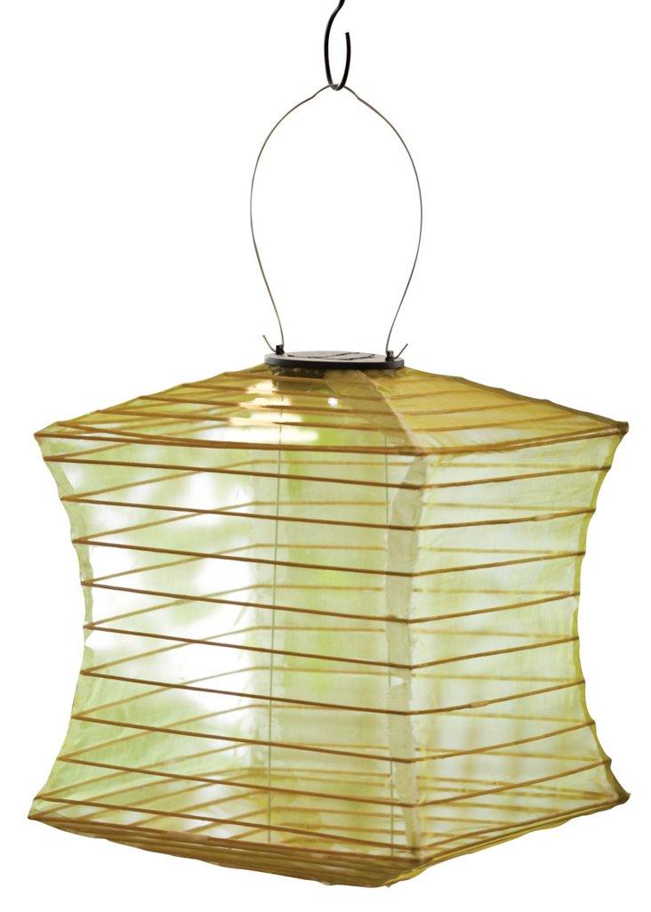 "17"" Solar Square Lantern, Gold"