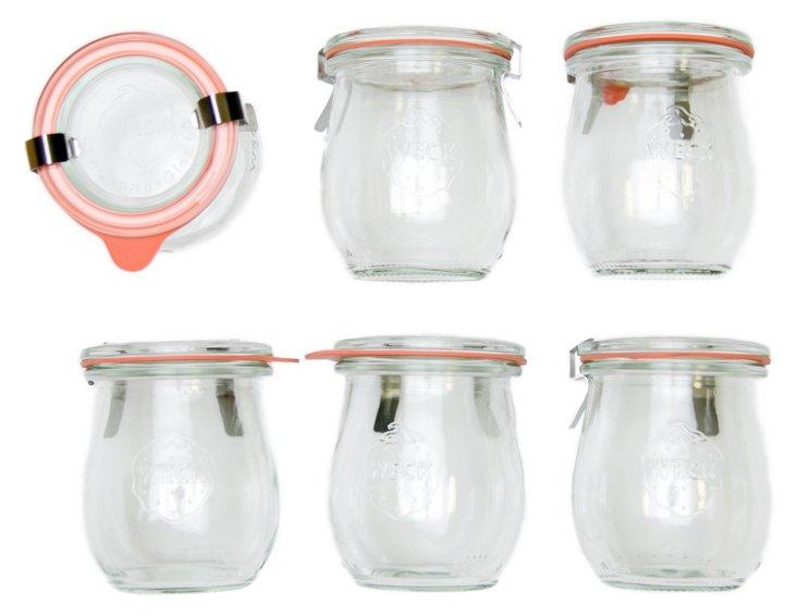 S/6 Weck Mini Tulip Jars